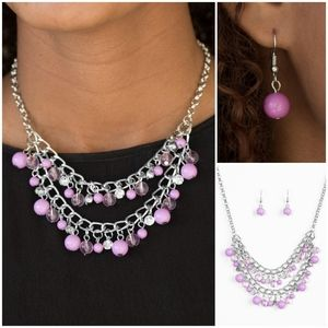 Paparazzi Bridal Party Purple Necklace Set